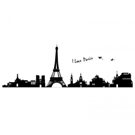 ADESIVO DA PARETE WALL STICKERS Parigi TORRE EIFFEL AY935