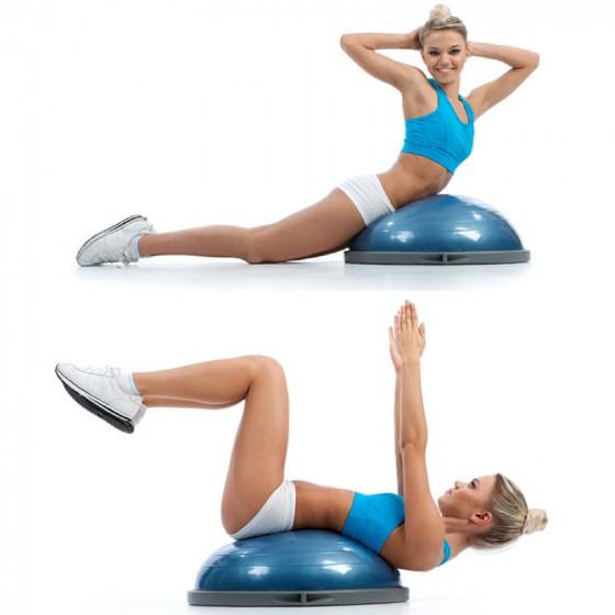 Palla Con Maniglie Ball PRO Equilibrio Bosu PILATES Ginnastica Yoga GYM Colore BLU