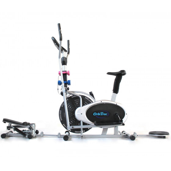ELLITTICA Cyclette Ergometro + STEPPER + TWISTER + 4 Manubri Trainer Professionale ORB2900S