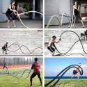 CORDA Fitness FUNE Allenamento CrossFit Battle Rope 9 metri x 38 mm GIALLA