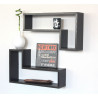 SET 2 MENSOLE MARRONE SCURO WENGE' ELLE MA