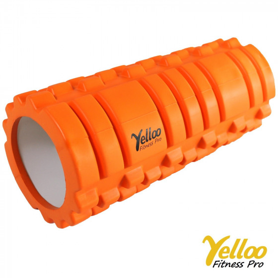 Yelloo Foam Roller Rullo Massaggi Sport Yoga Arancio
