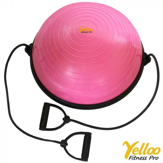 BOSU BALL Palla PILATES Ginnastica SEMISFERA Yoga RIABILITAZIONE Colore ROSA