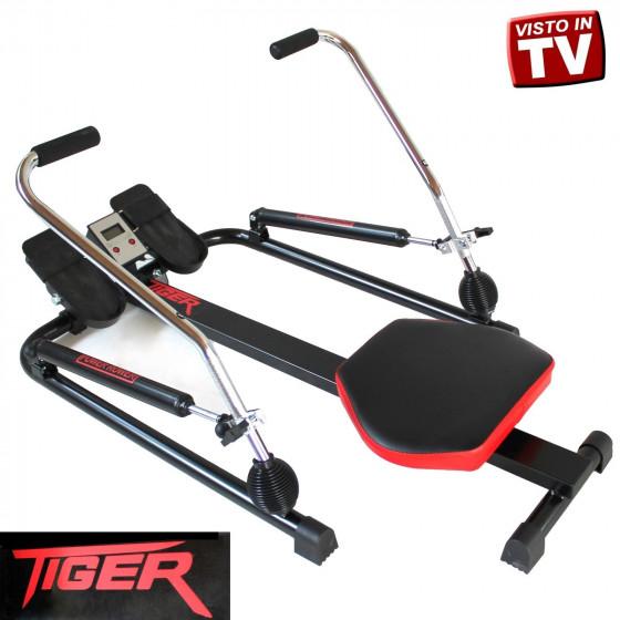 Vogatore Tiger Power Rower Con Pistoni Idraulici