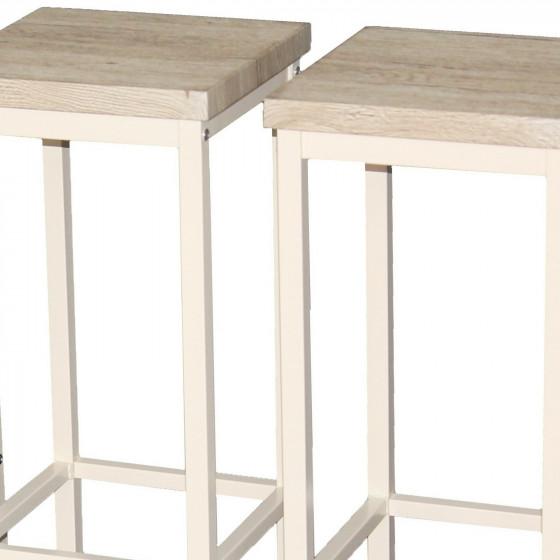 Set 2 SGABELLI Bar Rovere Beige Mod. RICCIONE RIMINI