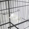 Voliera Gabbia Mod. CANARINO in Metallo con Tetto per pappagalli parrocchetti uccelli