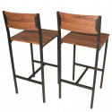 SET 2 SGABELLI Bar Marrone Noce Mod. VENICE