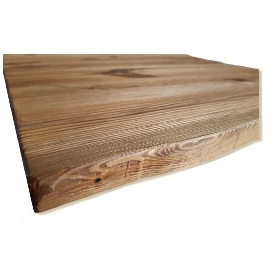 Ripiano Tavolo in Legno Massello 60x60x2,8 cm Ruvido Piano Superiore Rustico con Lavorazione Artigianale Made in Italy