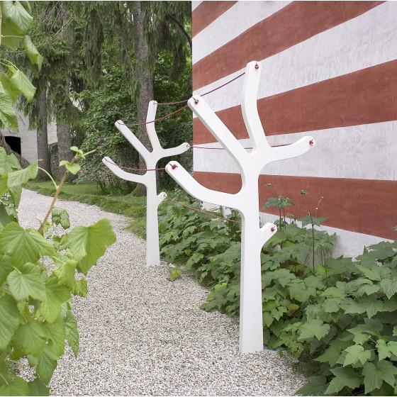 Stendibiancheria Albero Design beige o bianco per esterno